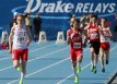 Brook Price &#039;13 runs the final stretch of the 3200M run at the 2013 Drake Relays. Photo by Ryan Young.